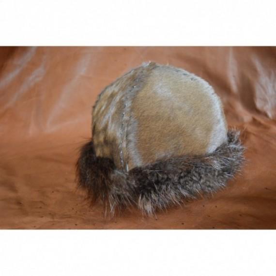 Calfskin/beaver viking hat, Birka-style