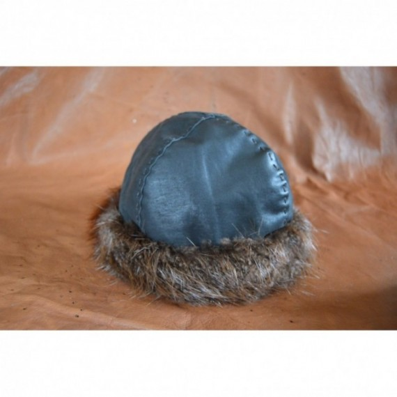 Viking hat with beaver fur edge