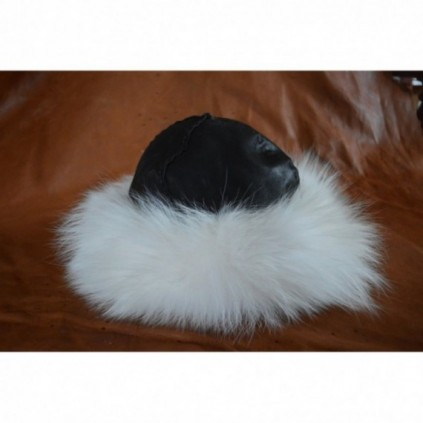 Birka-styled viking hat - white fur edges