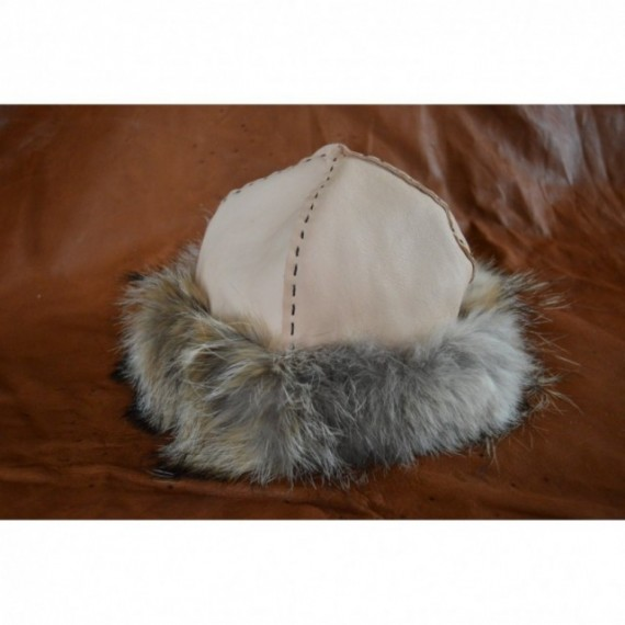White birka-styled hat