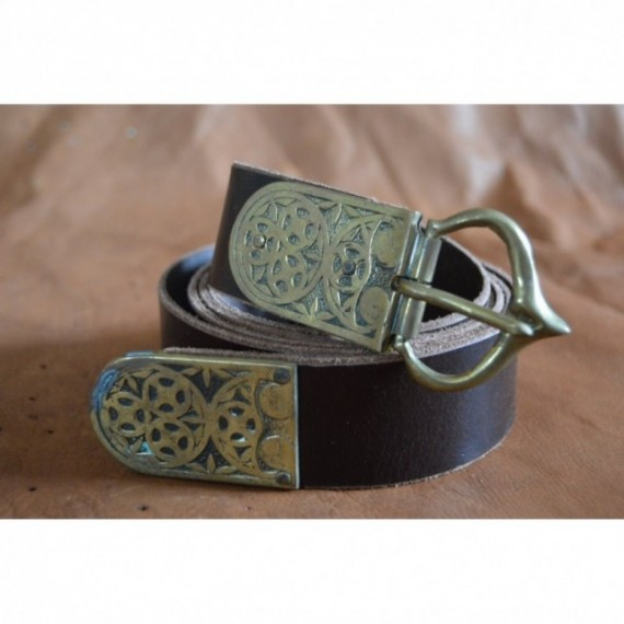 Dark Brown belt with early middle age fittings