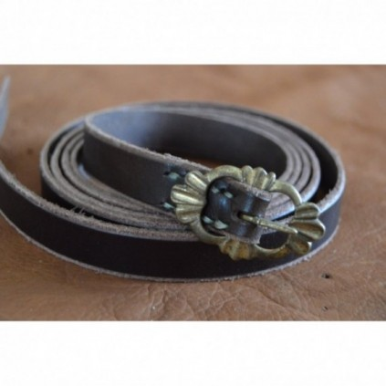 Dark middle age belt, 160cm