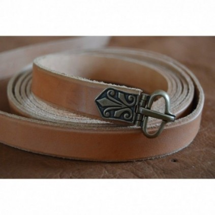 Czech style leather belt