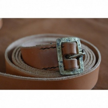 Light-brown leather belt, standard